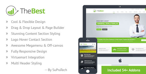 TheBest Corporate Joomla Virtuemart Template