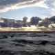 Sunset At Baltic Sea Cloudy Sky, Small Waves - VideoHive Item for Sale