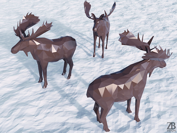 Lowpoly Moose - 3DOcean Item for Sale