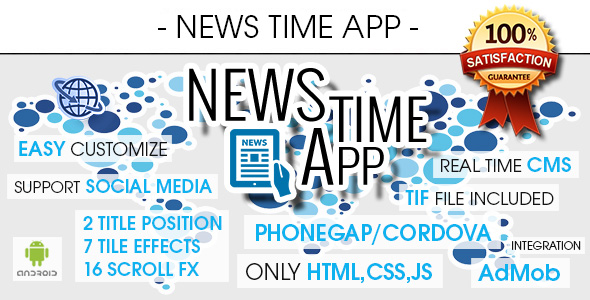 News Time App With CMS & Ads - Android [ AdMob & Push Notifications ] - CodeCanyon Item for Sale