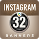 Instagram Banners - 32 Banners - GraphicRiver Item for Sale