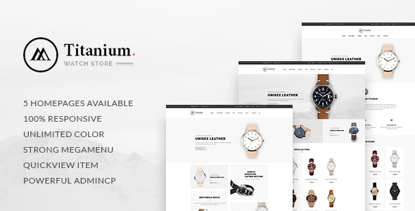 Leo Titanium - eCommerce PSD Template - Fashion Retail