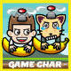 Banana & Six Copter Heroes Game Kit - GraphicRiver Item for Sale