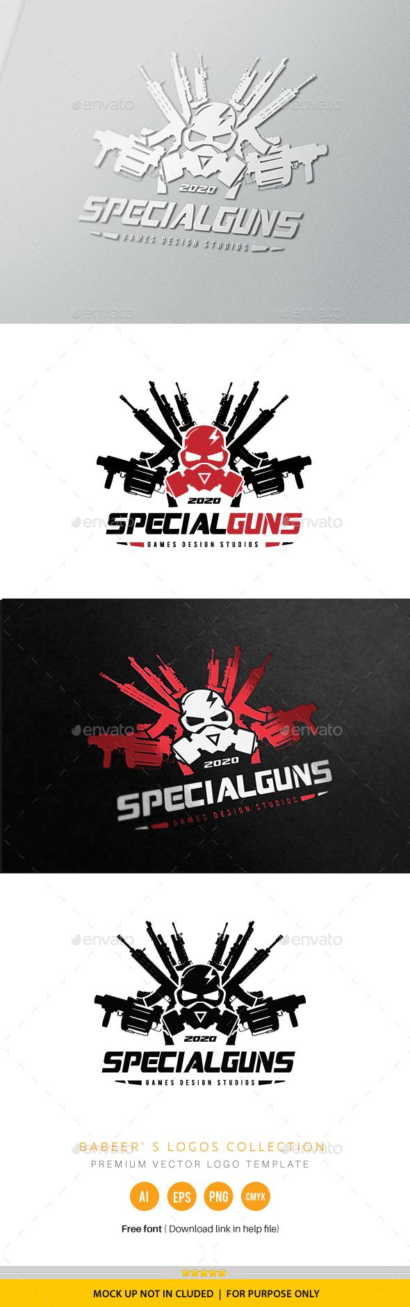 Special Gun Logo - Humans Logo Templates