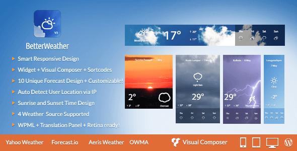 Better Weather - Weather Forecast WordPress Widget - CodeCanyon Item for Sale