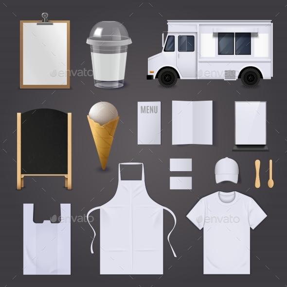 Ice Cream Corporate Identity Blank Set
