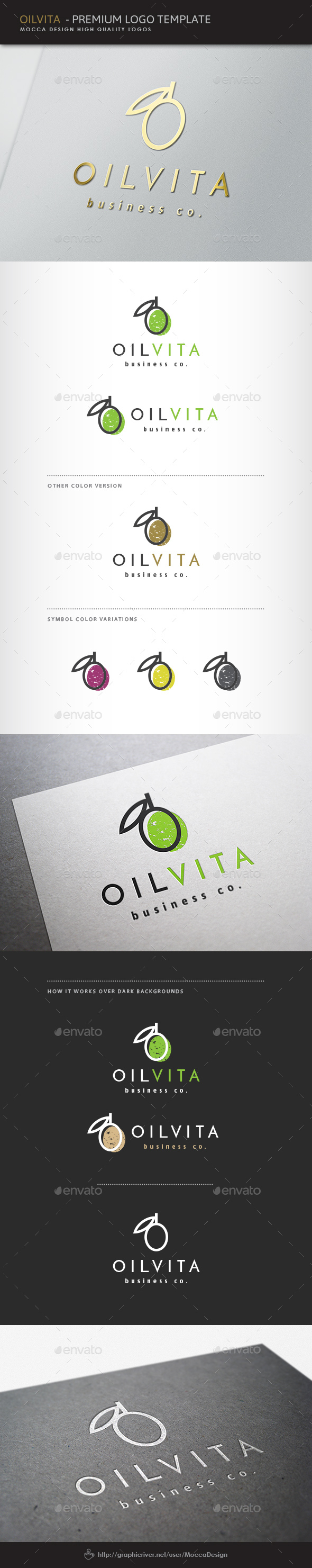Oilvita Logo - Food Logo Templates