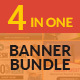Banner Bundle - 4 in 1 HTML5 Ad Templates
