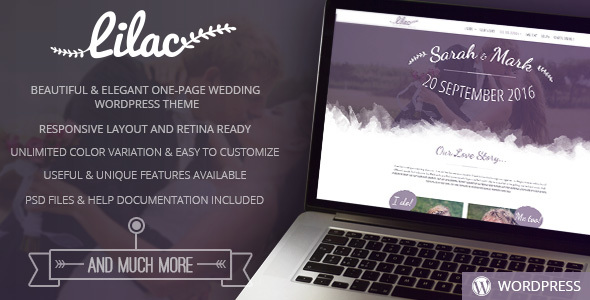 Lilac – One-page Wedding WordPress Theme