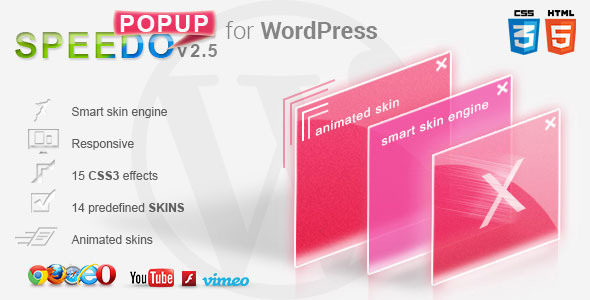 WordPress Speedo Popup - Lightbox - CodeCanyon Item for Sale
