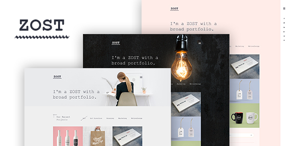 Zost – Minimal Portfolio / Agency Template