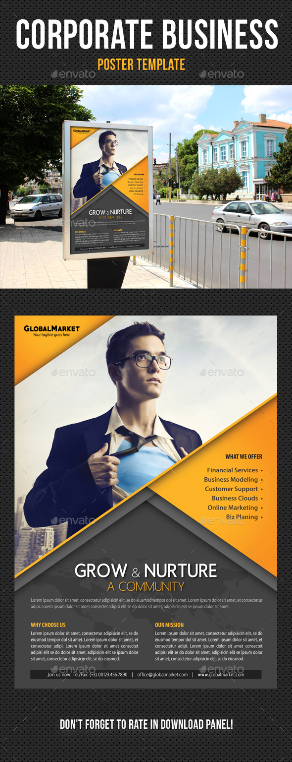 Corporate business poster template v07 by rapidgraf graphicriver corporate business poster template v07 signage print templates friedricerecipe Choice Image