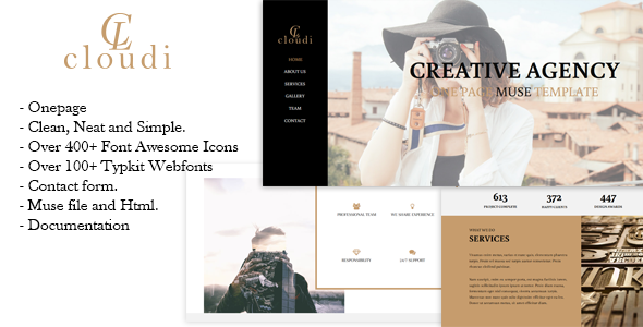Clodin – Creative One Page Muse Template