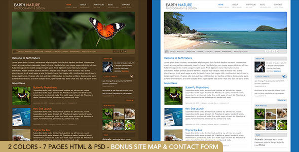 Free Download Earth Nature - HTML Nulled Latest Version