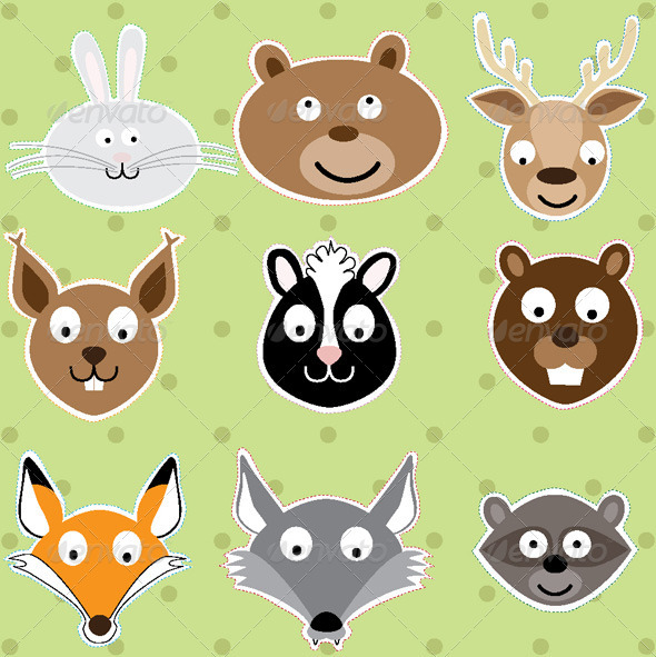 Animals - Vector Illustration - Animals Characters