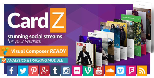 CardZ Social Stream for WordPress - CodeCanyon Item for Sale