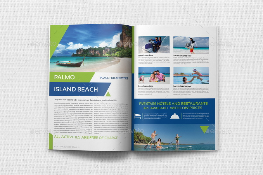 Travel Guide Template By OWPictures GraphicRiver - Travel guide brochure template