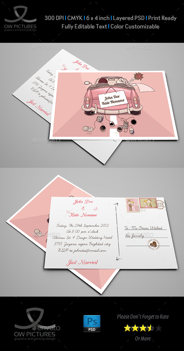 Wedding Postcard Invitation - Weddings Cards & Invites