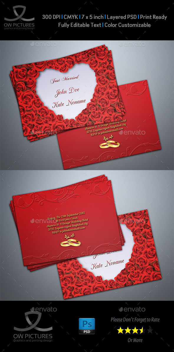 Wedding Invitation Vol.5 - Weddings Cards & Invites