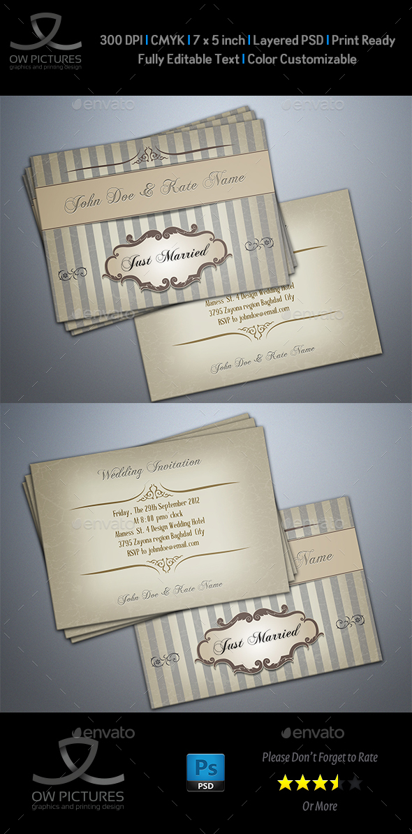Wedding Invitation Vol.6