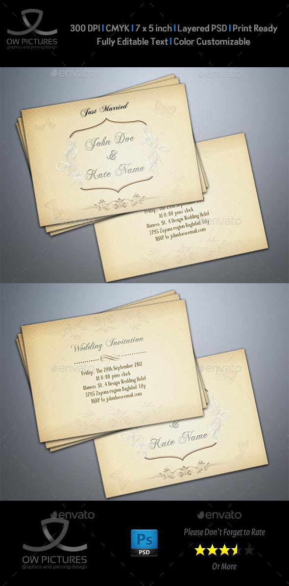 Wedding Invitation Card Template Vol.7