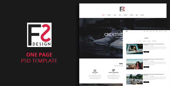 fs one page template by jo nguyen themeforest. Black Bedroom Furniture Sets. Home Design Ideas