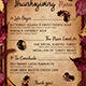 Thanksgiving Menu Template V3 - GraphicRiver Item for Sale