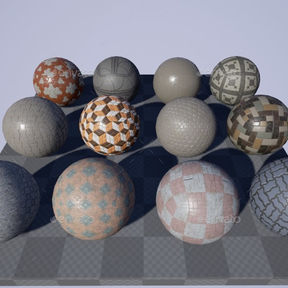PBR Paving Stone Material Pack - 3DOcean Item for Sale