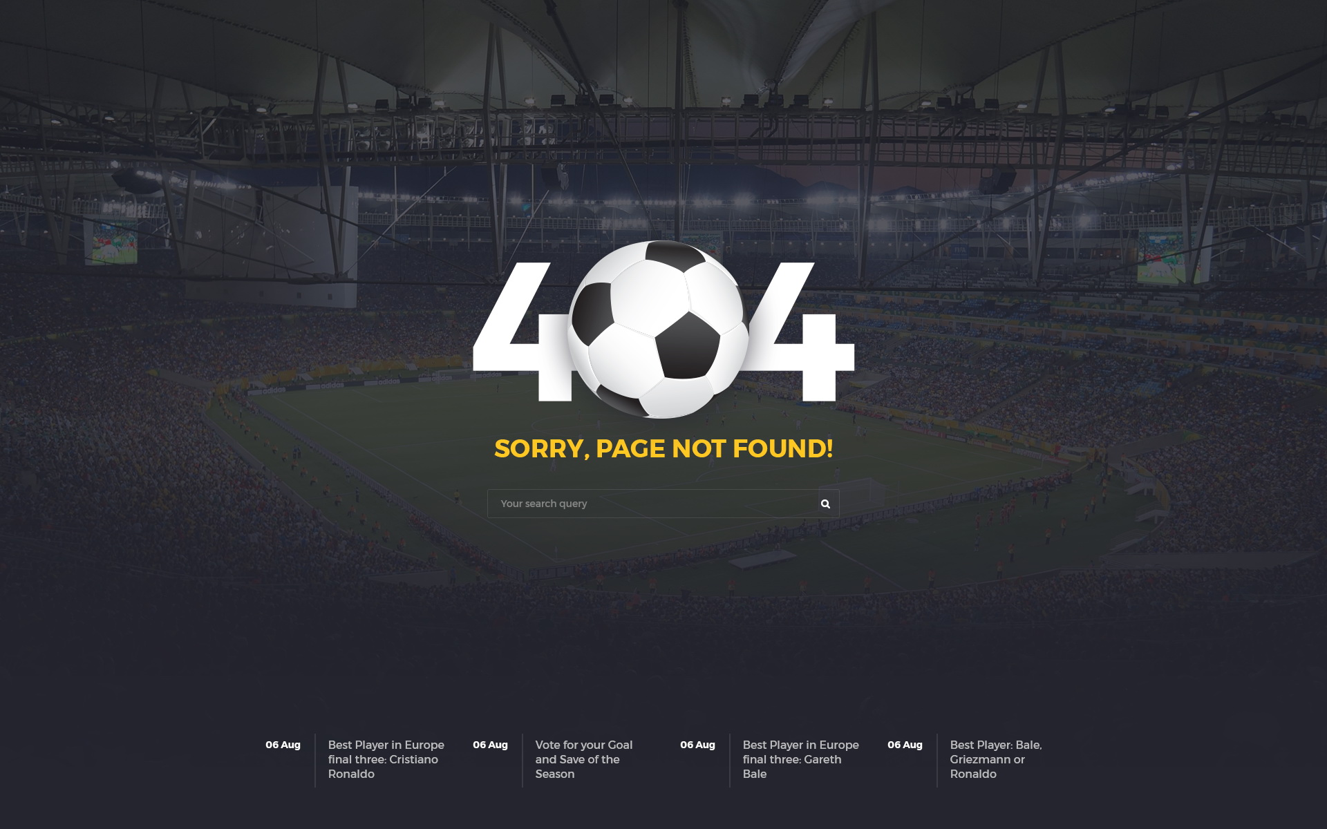 Sportsox | Sport Team Clubs PSD Template by webRedox | ThemeForest