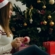 Pretty Young Girl Throws And Catch Christmas Ball - VideoHive Item for Sale