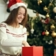 Pretty Smiling Girl Open Christmas Gift - VideoHive Item for Sale