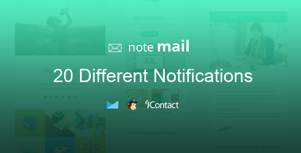 Note Mail – 20 Unique Responsive Email set + Online Access