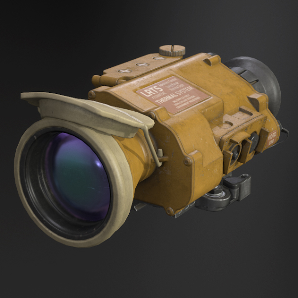Desert Tan Weapon Thermal Sight - 3DOcean Item for Sale