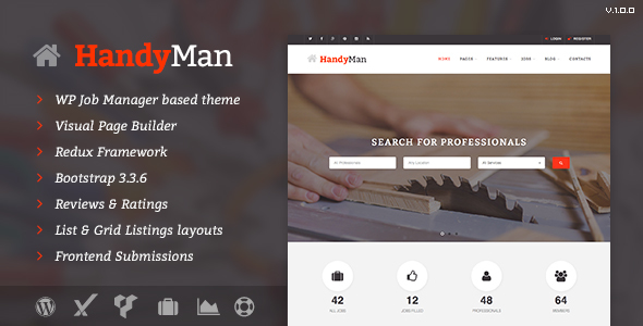 Handyman – Job Board WordPress Theme