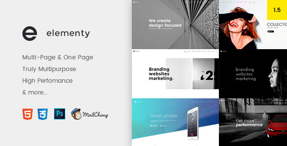 Elementy – Multipurpose One & Multi Page Shopify Theme