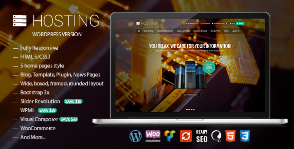 Hosting - Multipurpose WooCommerce Theme - Hosting Technology