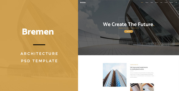 Bremen : Architecture PSD Template - Creative PSD Templates