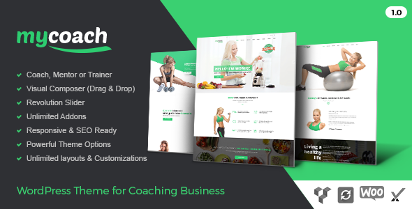 My Coach - WP Theme for Health Life Coaching
