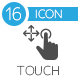 Touch Screen Icons flat icon - GraphicRiver Item for Sale