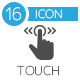Touch Gesture, Touch Screen Icons  - GraphicRiver Item for Sale