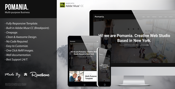 Pomania - Responsive Multipurpose Muse Template