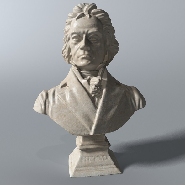 Beethoven Bust - 3DOcean Item for Sale