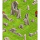 Medieval Buildings On Green Grass, Isometric - GraphicRiver Item for Sale