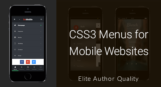 CSS3 Menus for Mobile Websites