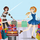 Fashion Girls at Shopping - GraphicRiver Item for Sale