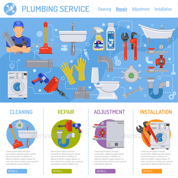 Plumbing Service Infographics By TAlex