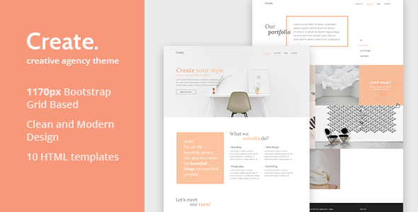 Create — Creative Agency HTML Template