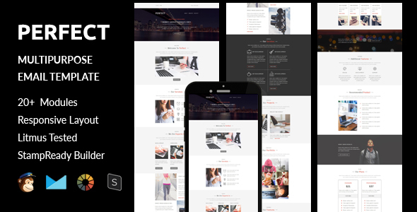 Perfect - Multipurpose Responsive Email Template + Online Stampready Builder Access