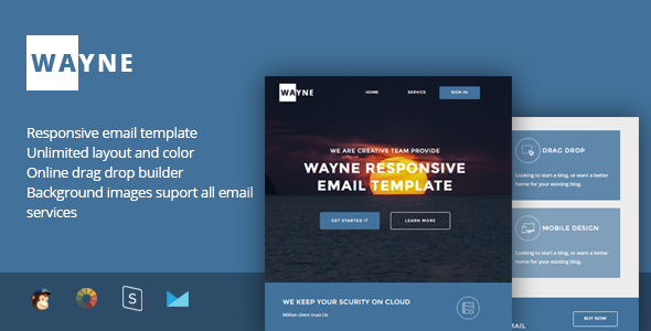 Wayne – Multipurpose Responsive Email Template + Stampready Builder