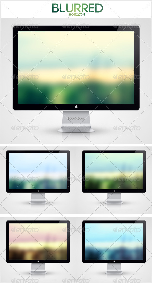 Blurred Horizon Background - Backgrounds Graphics